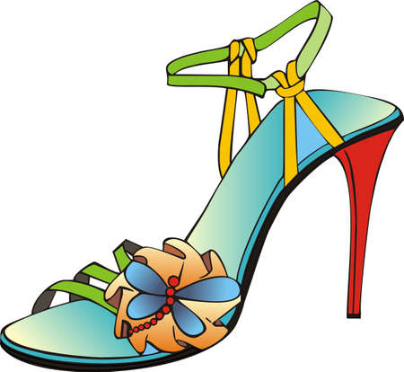 italian coloured sandal Illustration