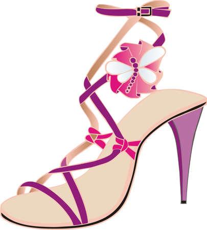 shoe strings: italian pink sandal
