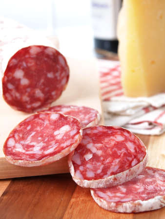 slices of salame from tuscany