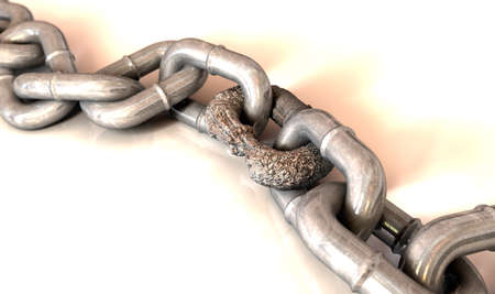 compromised: Weak Link Stock Photo