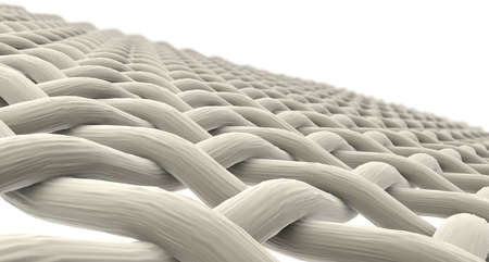 Micro Fabric - A close microscopic render of a simple woven fabric