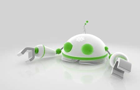 enviro: Enviro Robot - to promote environmental awareness Stock Photo
