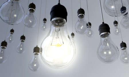 focos de luz: Conectada - Un conjunto de colgar las bombillas con la principal encendido