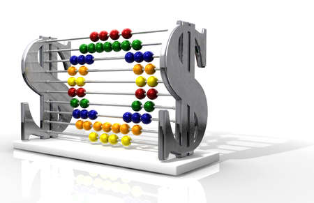 A one of a kind abacus that outwardly promotes wealth, yet unassumingly spells out the phrase SOS Stock Photo - 12862226