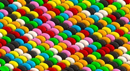 randomly: A uniform layout of randomly colored jelly beans