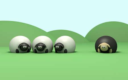 mouton noir: Une description litt�rale du mouton noir en disant