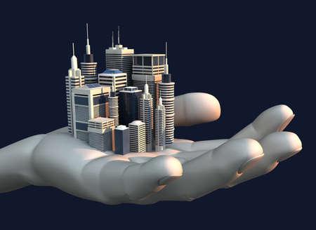 monopolio: Una ciudad peque�a, sin embargo, busca el �xito encuentra en la palma de una mano abierta