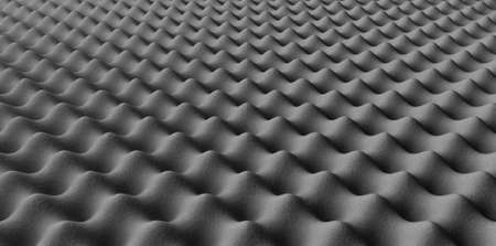 staggered: A perspectiveview of grey sound proofing foam in a staggered pattern Stock Photo