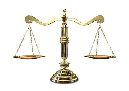 balanza justicia: Una de oro de la vieja escuela la justicia a escala Foto de archivo