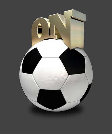 perceptive: La parola su arroccato sulla cima di un pallone da calcio