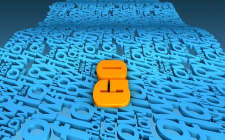 coincidir: Una palabra Orange Ir fluye en un mar formado por el flujo palabra