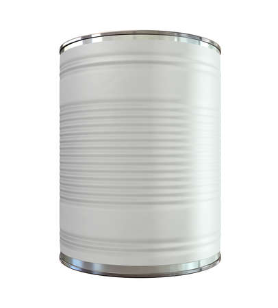 An everyday aluminium tin can with a blank generic label on an isolated background Stock Photo - 16420386