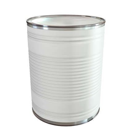 An everyday aluminium tin can with a blank generic label on an isolated background Stock Photo - 16420388