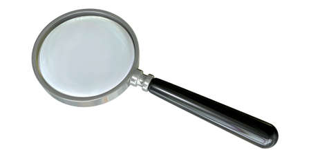 A regular glass magnifying glass on an isolated background Stock Photo - 18933091