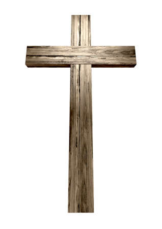 crucifix: A wooden cross on an isolated background
