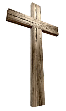 wooden cross: A wooden cross on an isolated background