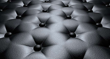 A closeup view of black luxury buttoned leather Stock Photo - 21639046