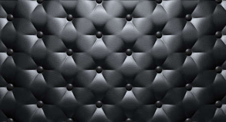 sumptuousness: A closeup view of black luxury buttoned leather