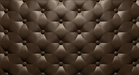 A closeup view of brown luxury buttoned leather Stock Photo - 21639049