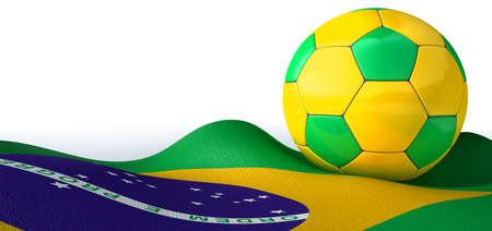 regular: Un pallone da calcio pannelli cuciti regolare nei colori brasiliani iconiche