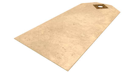 A regular beige colour paper tag on an isolated background Stock Photo - 22348023