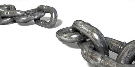 conundrum: Un metallo indossati con un anello mancante rompere il ciclo su di una singola Archivio Fotografico