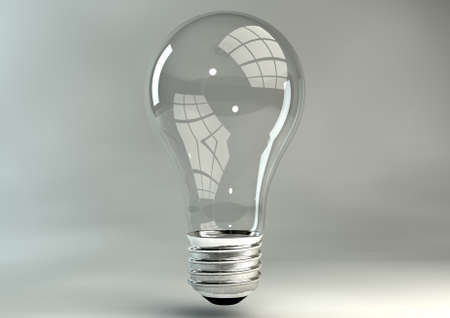 A regular unlit light bulb with no inner mechansim on an isolated sudio background Stock Photo - 24354775