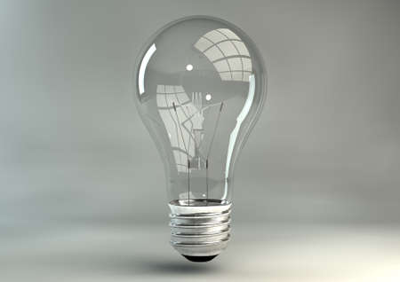 sudio: A regular unlit light bulb on an isolated sudio background