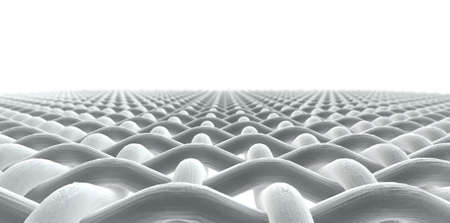 顕微鏡マクロを分離白背景に単純な織物パターンとスレッドの分析観点ビューを閉じる