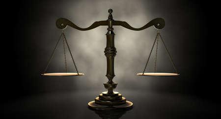 justiz: Eine Gold Gerechtigkeit Ma�stab Hintergrundbeleuchtung ein eine unheimliche dunklen Hintergrund Lizenzfreie Bilder