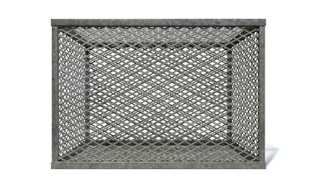 Eine Rechteckige Stahlkäfig In Diamant Bedeckt Netz Verdrahtung Mit ...