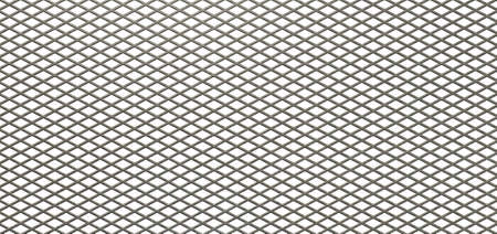 Een vlakke structuur van verzinkte metalen diamond gaas op een geïsoleerde witte achtergrond