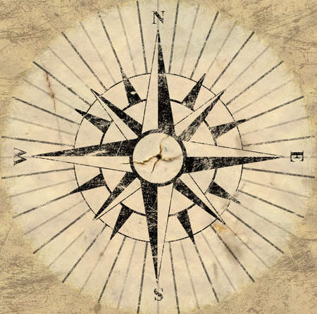 backing: A flat version of an old aged compass face backing