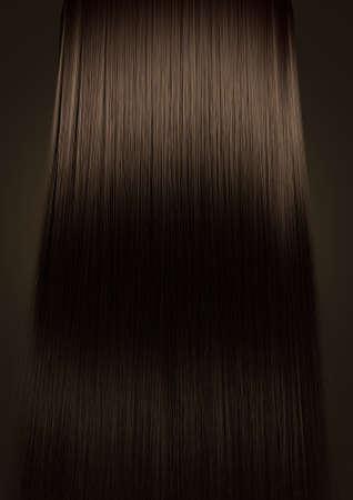 光沢のある茶色の毛の束の分離色の背景上の完璧な対称ビュー 写真素材 - 27300975