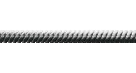 A closeup of a coarse metal cable on an isolated background photo