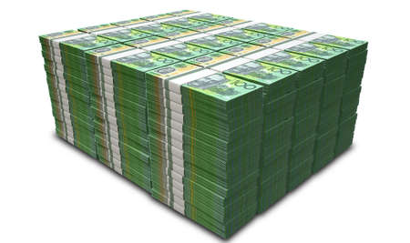 격리 된 배경에 호주 달러 지폐 뭉치의 더미