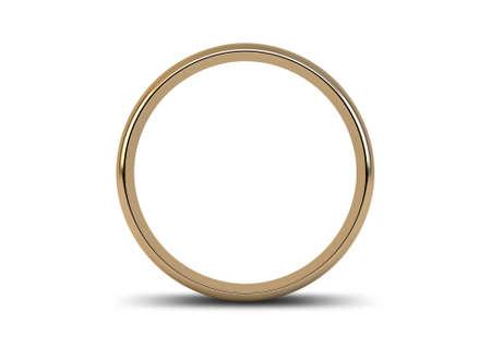 metales: Un anillo de bodas de oro que descansa sobre un fondo blanco aislado