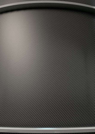carbon fibre: An abstract curved section of carbon fibre with chrome trim and copy space