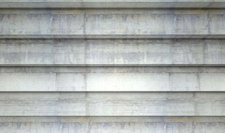 sequential: A section of empty concrete steps used for stadium seating