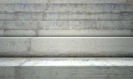 Hormigón: Una sección de medidas concretas vacíos usados ??para asientos de estadio