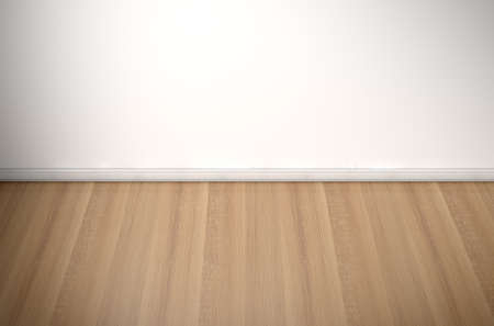 wood flooring: An empty room in a house with white walls and a reflective wooden floor