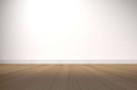 unoccupied: An empty room in a house with white walls and a reflective wooden floor
