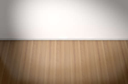 reflective: An empty room in a house with white walls and a reflective wooden floor