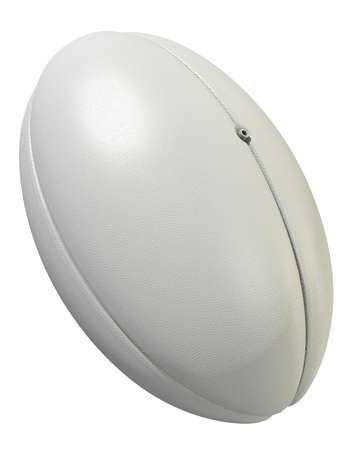 pelota rugby: A white rugby ball on an isolated white studio background
