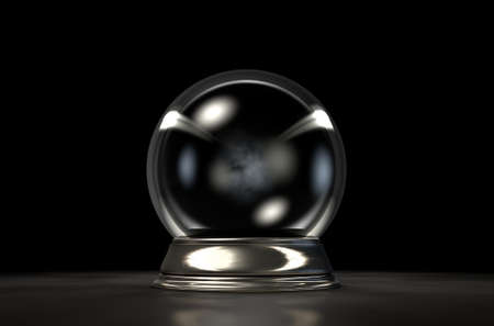 fortuneteller: A regular crystal ball on an isolated dark studio background Stock Photo