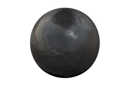 shot put: A regular athletics shotput ball on an isolated white studio background Stock Photo