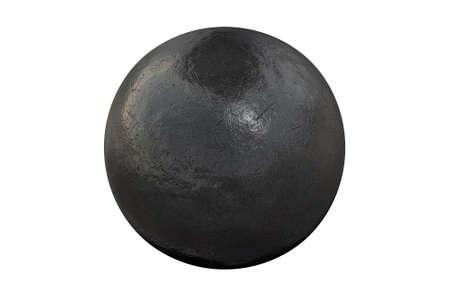 lanzamiento de bala: Una bola regular de atletismo lanzamiento de peso en un aislado fondo blanco del estudio