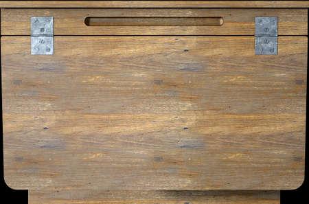 Una representación 3D de un primer plano de un pupitre de madera de época Foto de archivo - 58287434