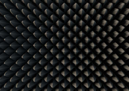 sound proof: A 3D rendering of a section of grey patterned sound proof foam