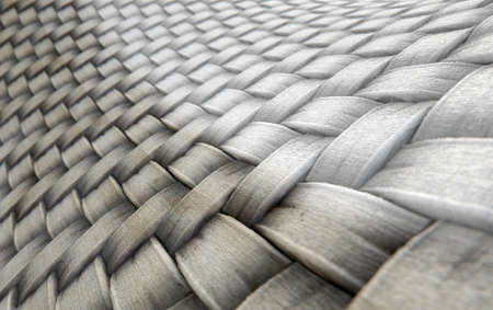 contrast: A 3D render of a microscopic view of a simple woven textile split into a dirty grubby half and a clean white comparison